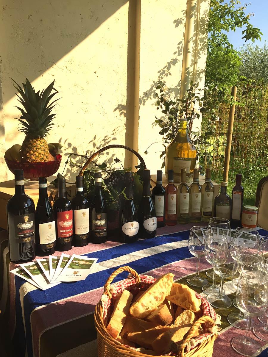 Bellora degustazione prodotti Vini Olio